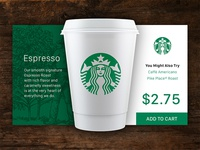 Starbucks display card