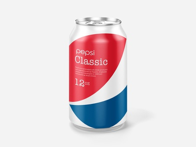 Minimal Pepsi Can Design clean red blue pepsi minimal can