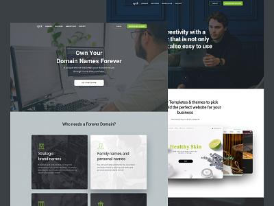 Landing Pages landing page design landing ui domains clean layout homepage