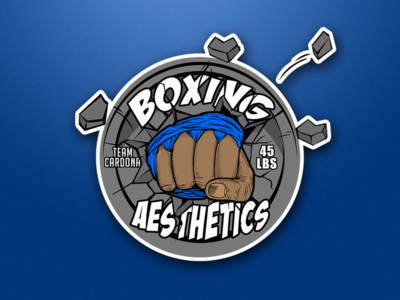 GYM BOXING FIST BARBELL PLATE LOGO