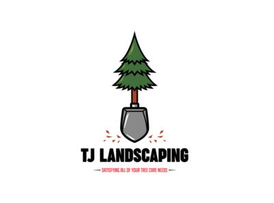 TREE & SHOVEL LANDSCAPING LOGO
