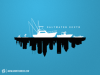 SALTWATER SOUTH | TAMPA, FL CITY SILHOUETTE SKYLINE DESIGN