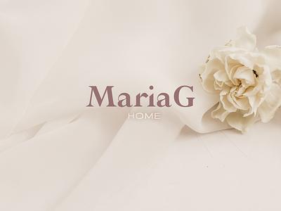 Maria G // Contest Brand Design home fabrics web design textile minimal logo web ux ui branding design
