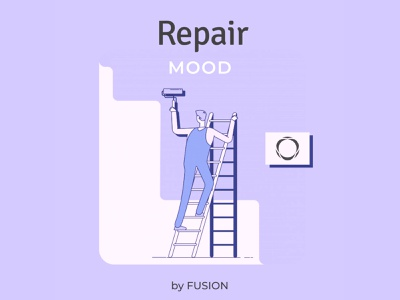 Repair Mood app design mobile app branding minimal illustration web design web ux ui design