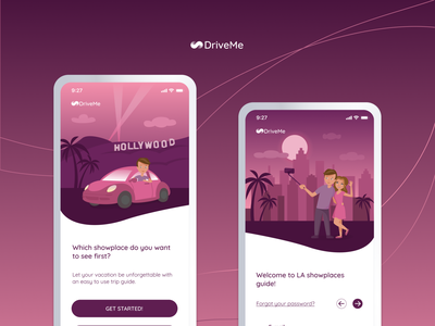 DriveMe branding vector web design ux ui design illustration mobile app