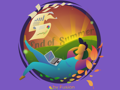 End of Summer Mood design branding flat mobile app web design ux ui vector minimal illustration