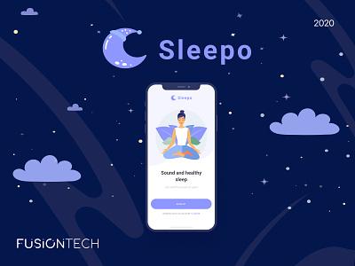 Sleepo night relaxation sleep app sleep app design mobile app ux ui