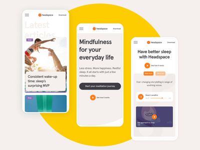 Headspace.co— Dot on Mobile app dot headspace meditation ui mobile motion interaction design design animation