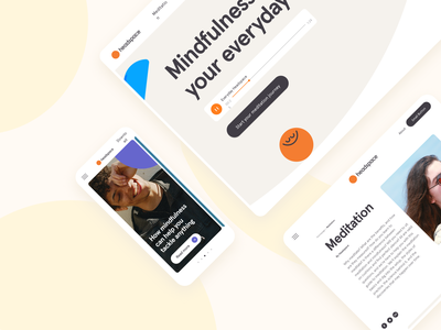 Headspace case study web case study meditation headspace health branding animation ui design