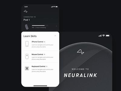 Neuralink - Pod Connection health motion mobile ios design app education brain neuralink ux ui