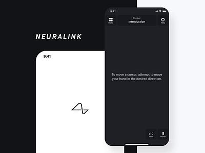 Neuralink Training Exercise white black animation ux ui neuralink motion mobile ios health education design brain app