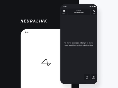 Neuralink Training Exercise white black animation ux ui neuralink motion mobile ios health education design brain app