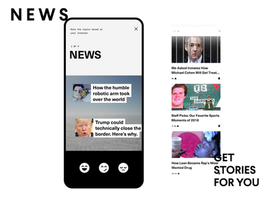 VICE - Create Your Own Stories mobile animation design viceland vice reaction emoji motion ui clean ios android app