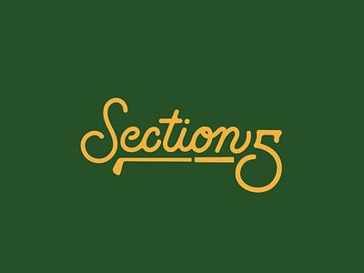 Section 5 Script graphic design academy indiana golf design typography logo script branding