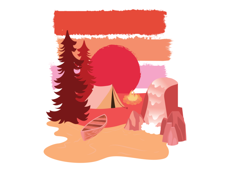 Camp Vibes design nature illustration digital illustration vector digital art