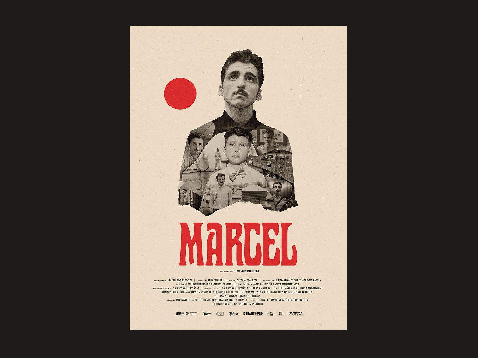 Marcel | movie poster man actor movie poster cinematography movie illustration art poster film collage art actors cutout gigposter illustration collage