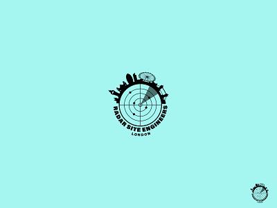 Radar london logotype illustrator illustration minimal logodesign icon logo flat design branding