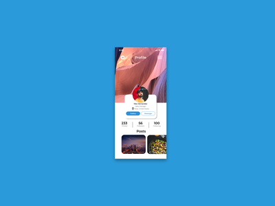 DailyUI#006 Profile Page