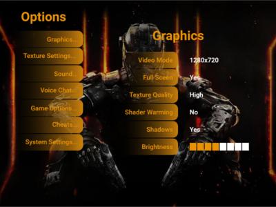 DailyUI #007 Game Setting Design