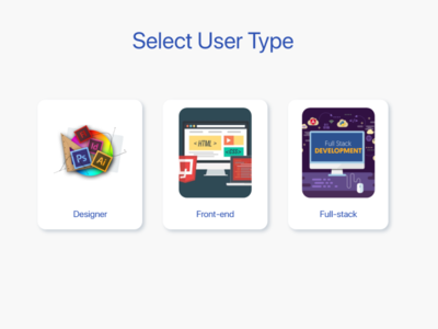 Daily UI #064 Select User Type
