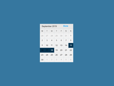 Daily UI #080 Date Picker