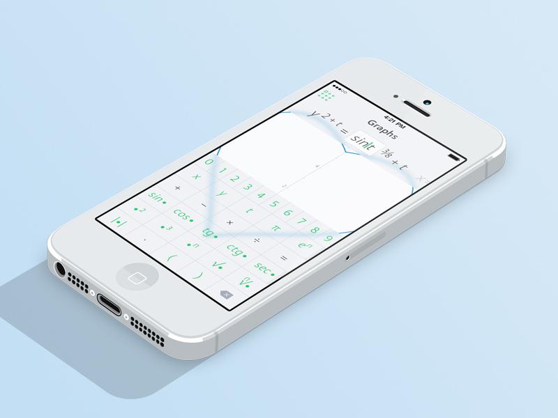Graphs — Graph Edit Screen 7 app clear minimal graph interface ios iphone math ui simple