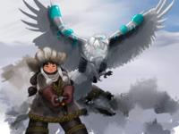 Mongolian eagle huntress
