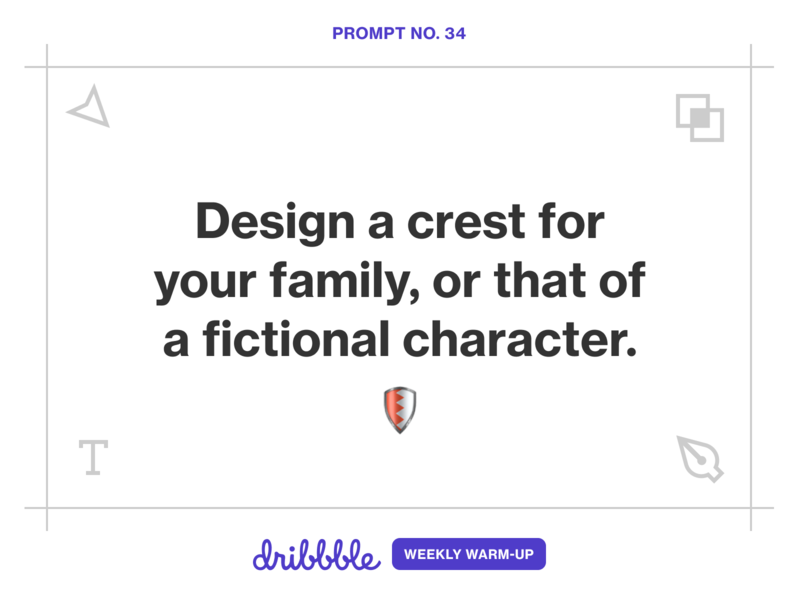 Design a Family Crest learn learning fun weekly warm-up branding challenge prompt illustration dribbbleweeklywarmup community dribbble