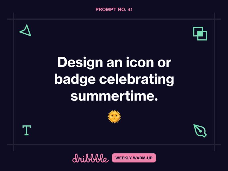 Design an Icon or Badge Celebrating Summertime growler grow learning weekly warm-up branding logo illustration challenge prompt design dribbbleweeklywarmup community