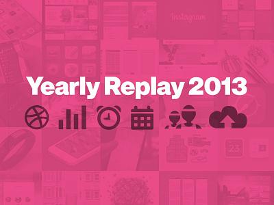 Yearly Replay 2013 dribbble blog neuehaasgrotesk pink