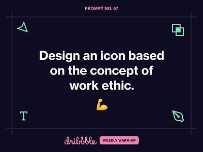 Design an Icon Based on Work Ethic workshop studio temporary scott fuller work icon learn challenge grow prompt fun dribbbleweeklywarmup weekly warm-up community design dribbble