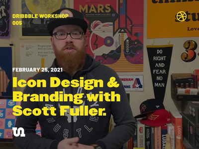 Dribbble Workshop: Icon Design & Branding with Scott Fuller! identity design identity branding design branding icons icon design dribbbleworkshops learning workshop design community dribbble