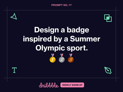 Design a badge inspired by a Summer Olympic sport. badge design weekly warm-up dribbbleweeklywarmup community dribbble olympics