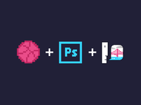 Dribbble + Photoshop + Susan Kare