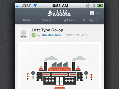 Adaptive shot dribbble iphone mobile mediaqueries adaptive wip