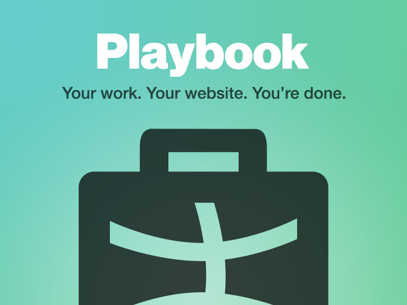 Introducing Playbook dribbble portfolio playbook