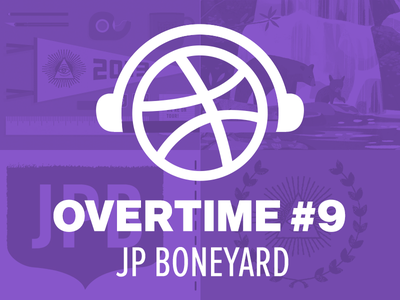 Overtime with JP Boneyard posters screen printing overtime podcast