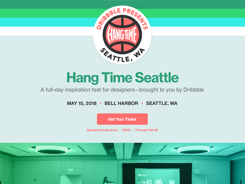 Tickets on sale for Hang Time Seattle! seattle design conference hang time