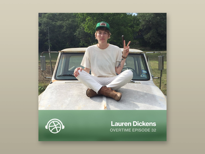 Overtime with Lauren Dickens overtime podcast brand identity awful goods astral plane