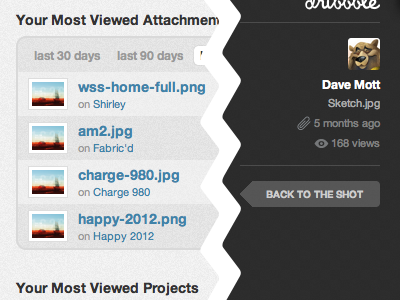 Stattachments attachments dribbble stats views wip