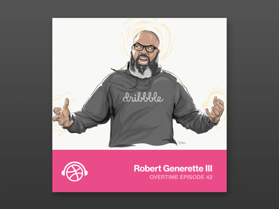 Overtime with Rob Generette III adobe ipad illustration dribbble overtime podcast