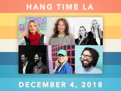 Grab an early bird ticket to Hang Time LA while you can! design conference dribbble hang time