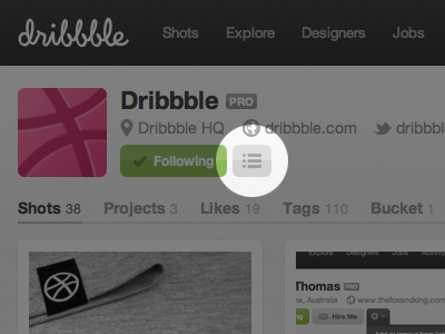 Lists! dribbble pro lists feature
