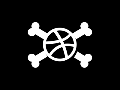 Bally Roger jolly roger dribbble ball mark fun