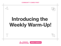 Introducing the Weekly Warm-Up!