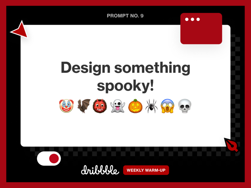 Design Something Spooky! halloween scary spooky challenge community grow learn fun prompt webdesign weekly warm-up dribbbleweeklywarmup