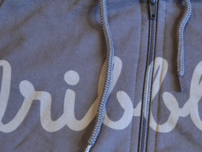 Warm up dribbble equipment hoodie discharge print asphalt americanapparel