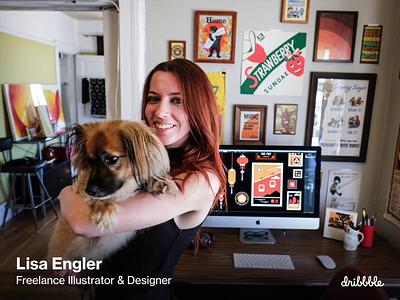 Design is a long game: Lisa Engler shares invaluable advice 🎥 dribbble illustrator designer freelance