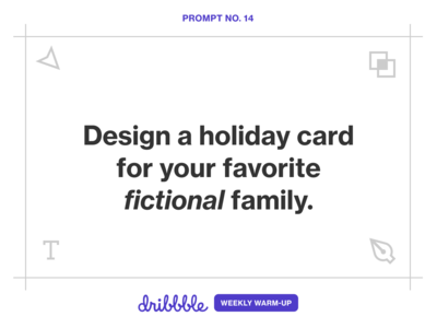 Design a Holiday Card for a Fictional Family