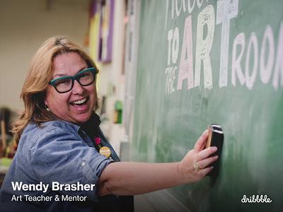 What a middle school art teacher can teach us about creativity learn school design art community dribbble